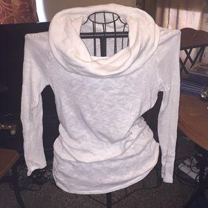 Beautiful White Cowl Neck Sweater
